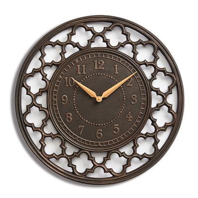 Quatrefoil Clock - Weathered Zinc - Frontgate
