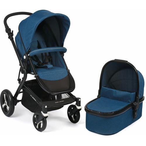 CHIC4BABY Kombi-Kinderwagen Passo, navy, 15 kg, ; Kinderwagen blau Kinder Kombikinderwagen Buggies