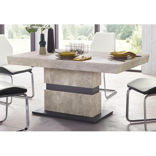 Homexperts Säulen-Esstisch Marley, Breite 140 oder 160 cm grau Esstische rechteckig Tische