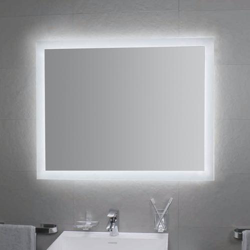 Koh-i-Noor MATE 4 Spiegel mit Raumbeleuchtung. Montage waagerecht oder senkrecht, L46023, B:80, T:3, L46023