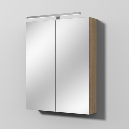 Sanipa Reflection Spiegelschrank MILLA 60 mit LED-Aufsatzleuchte, Ulme-Impresso, SD14017 SD14017