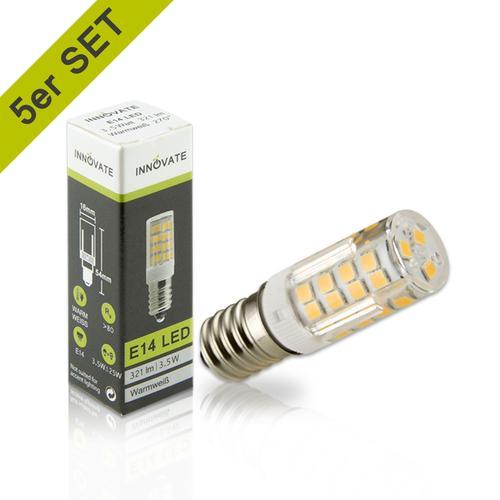 INNOVATE LED-Leuchtmittel im 5er-Pack A+ weiß LED Leuchtmittel Lampen Leuchten EEK