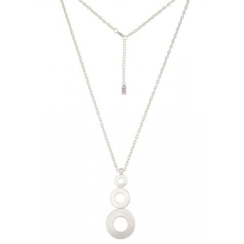 Leslii Halskette mit rundem Anhänger silberfarben Damen Ketten Halsketten Schmuck