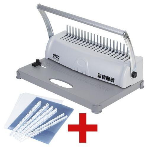 Plastikbindegerät »OP-120« inkl. Plastikbinde-Starter-Kit, OTTO Office, 37.5x24x24.8 cm