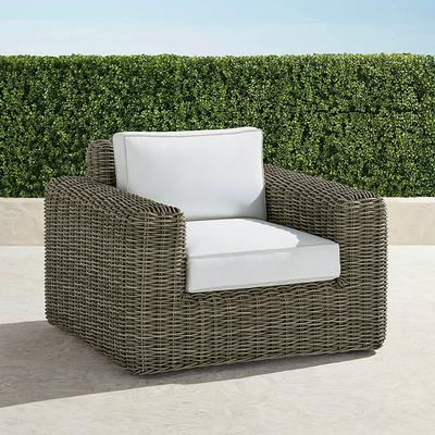 Vista Lounge Chair with Cushions - Resort Stripe Sand, Stripe, Special Order - Frontgate