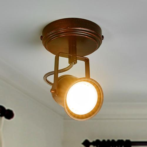 Braun-goldener Spot Cansu, GU10 LED