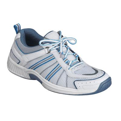 Podiatrist Recommended Walking and Standing Sneakers, Women's Sneakers | OrthoFeet Orthopedic Footwear, Tahoe, 5 / Wide / White