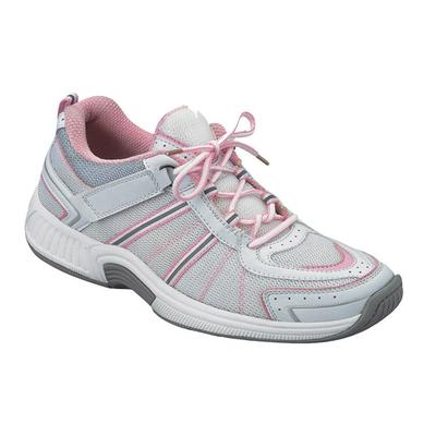 #1 Overpronation Diabetic Neuropathy Wide Width Athletic Shoes Pink Sneakers For Women with Arch Support | OrthoFeet, 10.5 / Extra Wide / Pink