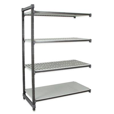"""Cambro EA242484VS4580 Polymer Louvered/Solid Add-On Shelving Unit - 24""""L x 24""""W x 84""""H"""