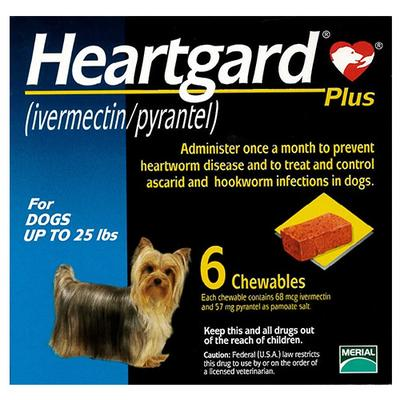 Heartgard Plus For Small Dogs Up To 11kg (Blue) 6 Chews