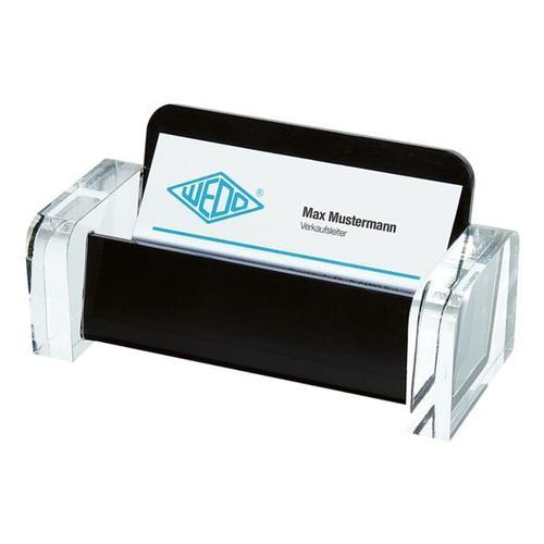 Visitenkartenhalter »acryl exklusiv« schwarz, Wedo, 11.5x5.5x5 cm
