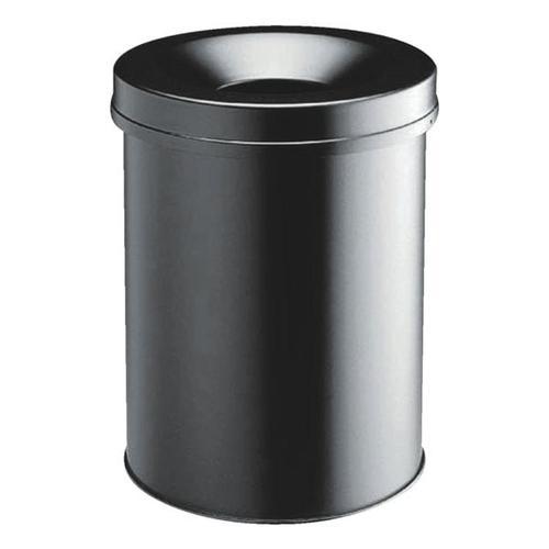 Stahl-Papierkorb 15 L schwarz, Durable, 26x35.7 cm