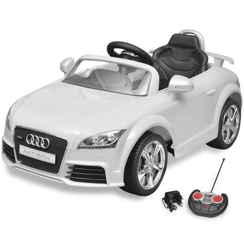 vidaXL Audi TT RS Aufsitz-Auto für Kinder mit Fernsteuerung Weiß