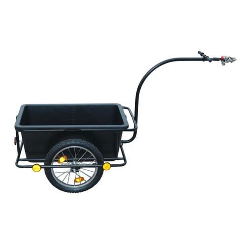 vidaXL Fahrradanhänger mit Kunststoffwanne 90 L