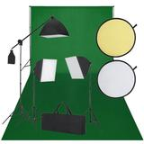 vidaXL Fotostudio-Set Schwarz un...