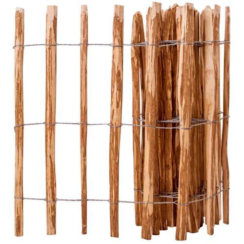 vidaXL Staketenzaun Haselnussholz 90 x 500 cm