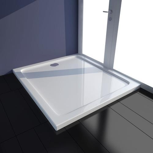 vidaXL Duschtasse ABS Rechteckig Weiß 80×90 cm