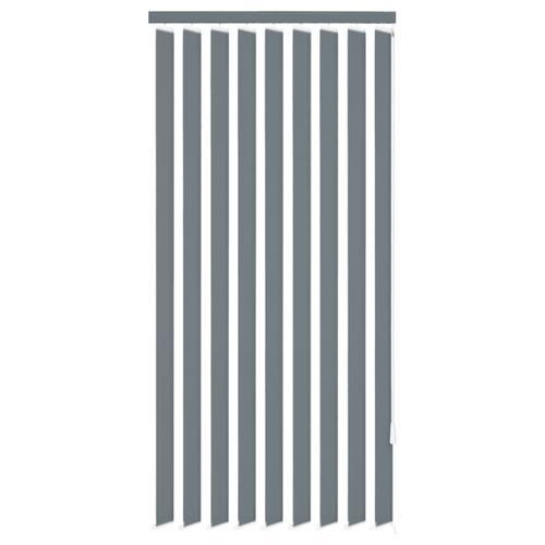 vidaXL Vertikale Jalousien Grau Stoff 195x180 cm