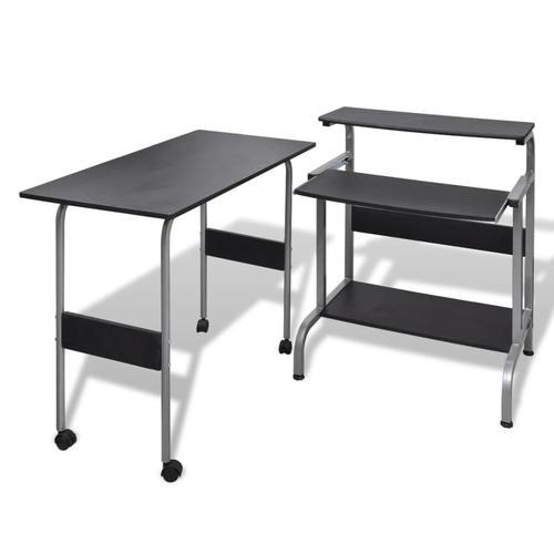vidaXL Computertisch Schreibtisch Computerwagen PC Tisch Bürotisch schwarz