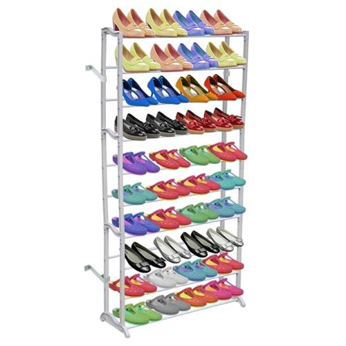 vidaXL Schuhregal für 40 Paar Schuhe Schuhschrank 140cm