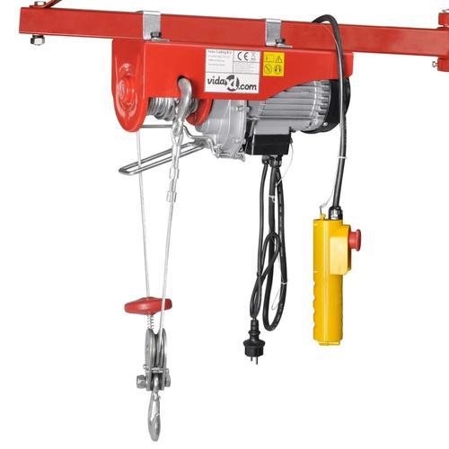 vidaXL Elektrischer Seilhebezug 1300 W 400/800 kg