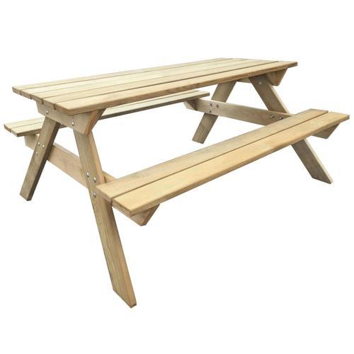 vidaXL Picknicktisch 150x135x71,5 cm Holz