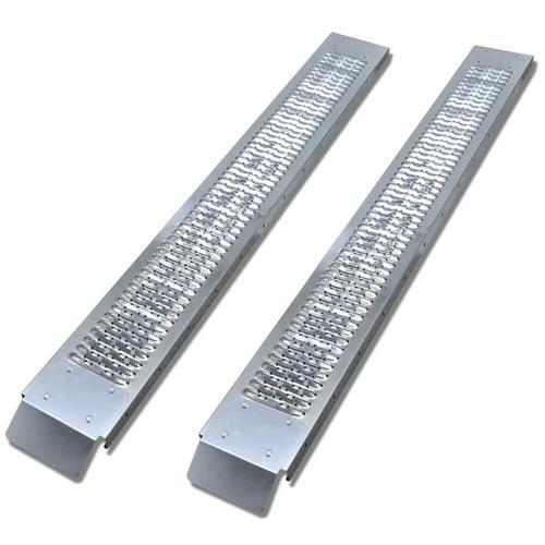 vidaXL 2 x Stahl Auffahrrampe Laderampe 450 kg
