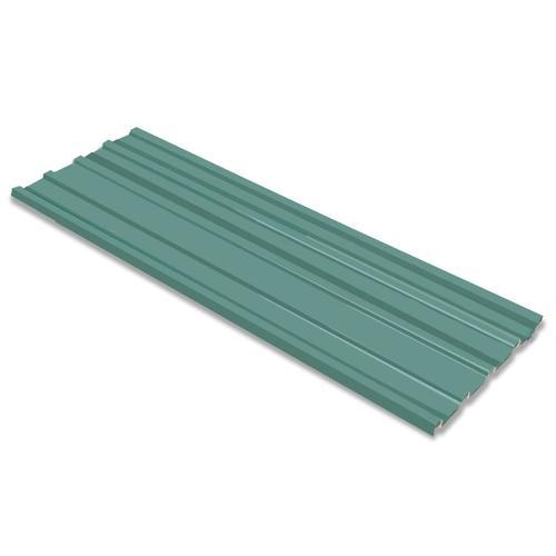 vidaXL Dachpaneele 12 Stück Verzinkter Stahl Grün