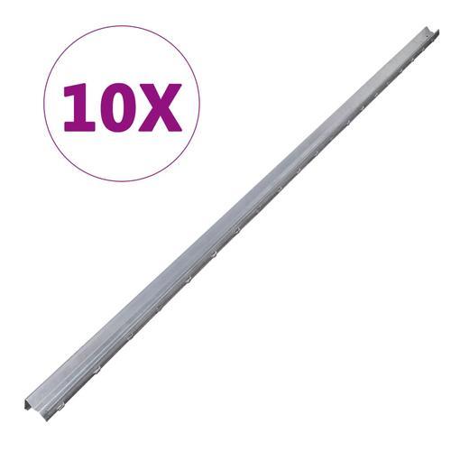 vidaXL Zaunpfosten 10 Stk. Verzinkter Stahl 2 m