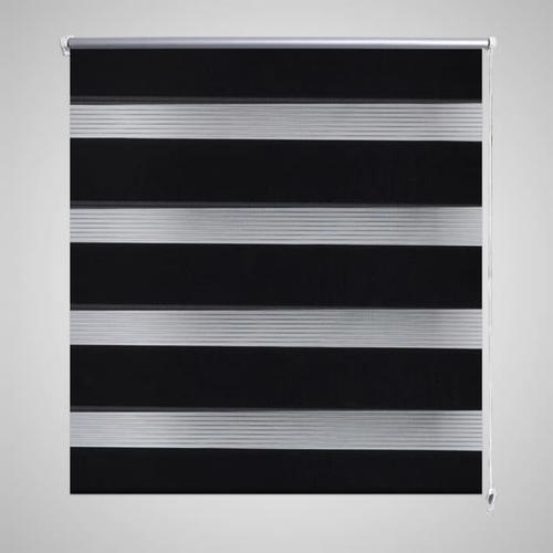 vidaXL Doppelrollo Seitenzug 120 x 175 cm schwarz