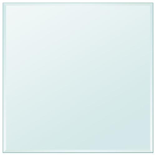 vidaXL Tischplatte aus gehärtetem Glas quadratisch 800x800 mm