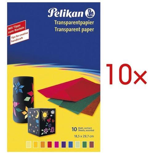 10 Pack Transparentpapier transparent, Pelikan, 18.5x29.7 cm