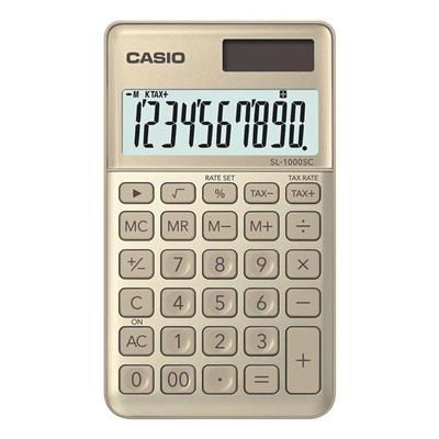 Taschenrechner »SL-1000SC« gold,...
