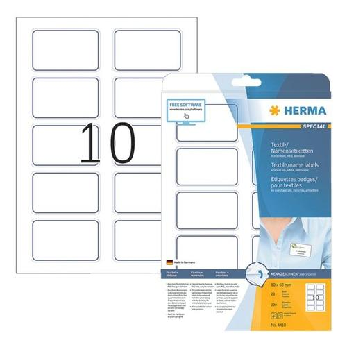 200er-Pack Namens-/Textiletiketten »4410« weiß, Herma