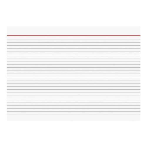 Karteikarten A4 quer, liniert weiß, Brunnen, 29.7x21 cm