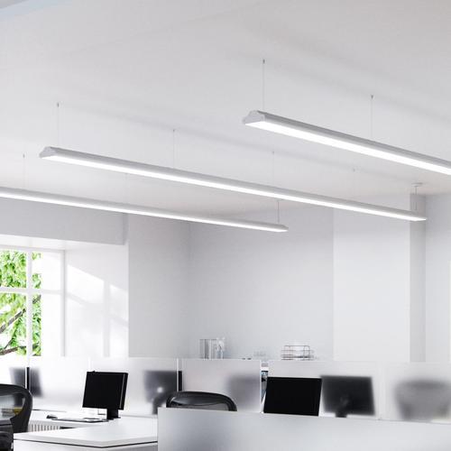Büro-Pendellampe Lexine mit LEDs, universalweiß