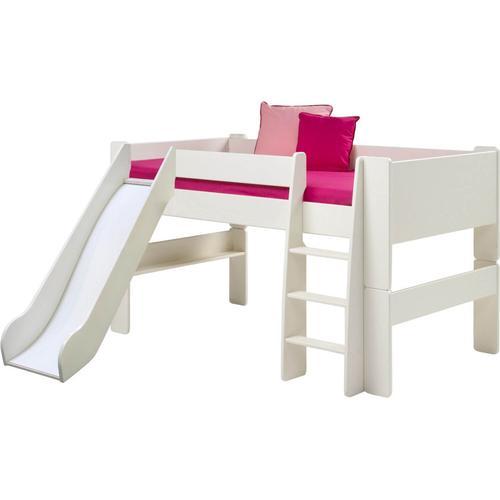 Steens For Kids 617 Spielbett Massiv 50 weiss inkl. Rutsche