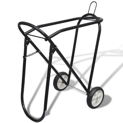vidaXL Sattelhalter aus Metall zusammenklappbar mit Rädern