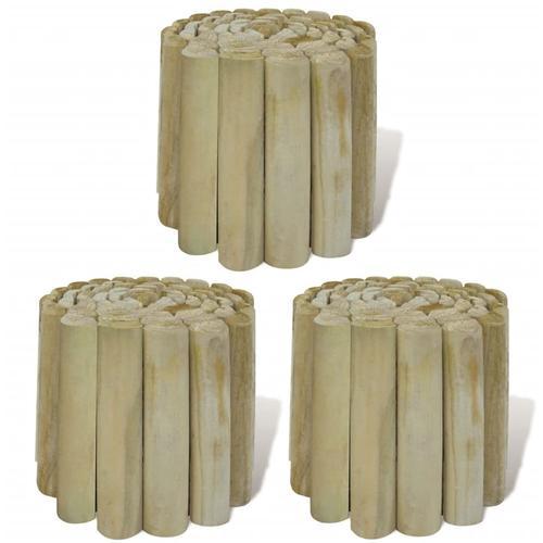 vidaXL Rasenkanten 3 Stk. Holz 250x20 cm