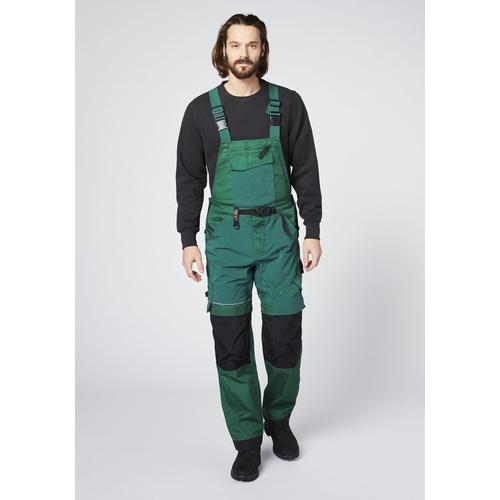 Expand Herren Latzhose grün Latzhosen Arbeitshosen Arbeits- Berufsbekleidung Hosen lang