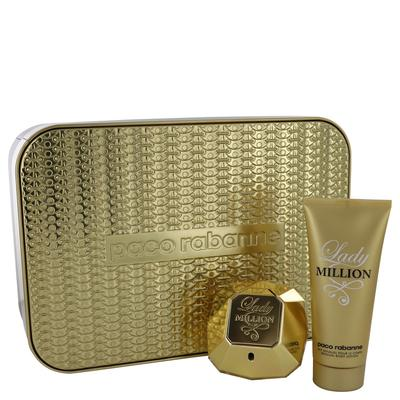 Lady Million For Women By Paco Rabanne Gift Set - 2.7 Oz Eau De Parfum Spray + 3.4 Oz Body Lotion --