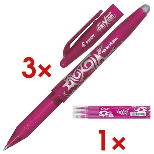 »FriXion Ball 0.7« 3er Vorrats-Set pink, Pilot
