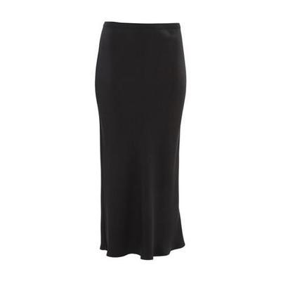 Bar Silk Skirt - Black - Anine Bing Skirts