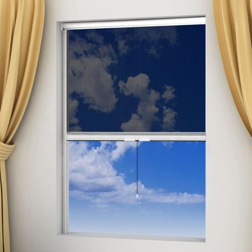 vidaXL Weißes aufrollbares Insektengitter für Fenster 120 x 170 cm