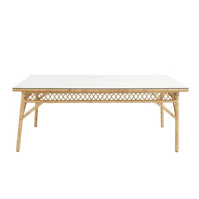 Suzanne Kasler Southport Rattan Dining Table Glass Topper - Ballard Designs