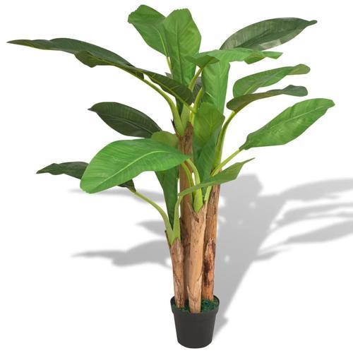 vidaXL Künstlicher Bananenbaum mit Topf 175 cm Grün