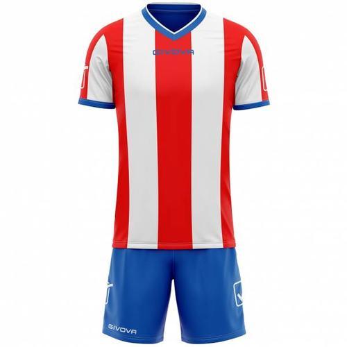 Givova Fußball Set Trikot mit Shorts Kit Catalano rot/weiß