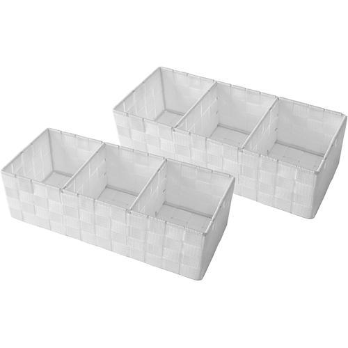 Franz Müller Flechtwaren Aufbewahrungsbox, (Set, 2 St.), mit praktischer Facheinteilung weiß Kleideraufbewahrung Aufbewahrung Ordnung Wohnaccessoires Aufbewahrungsbox