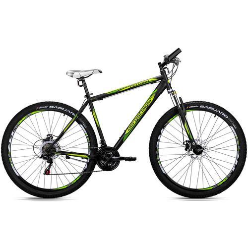bergsteiger Mountainbike Detroit, 21 Gang, Shimano, Tourney RD-TZ50 Schaltwerk, Kettenschaltung schwarz Hardtail Mountainbikes Fahrräder Zubehör