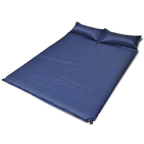 vidaXL Selbstaufblasende Luftmatratze Blau 190x130x5cm (Doppelmatratze)
